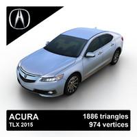 3d 2015 acura tlx sedan