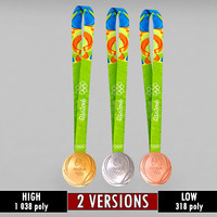 3d model rio olympic medals