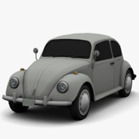 3d volkswagen beetle classic - model