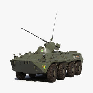 3d amphibious armoured personnel carrier model