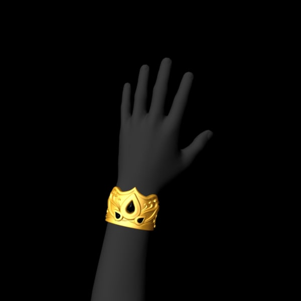 obj heavy gold bracelet
