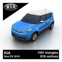 3d model 2015 kia soul ev