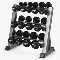 3d weight rack model