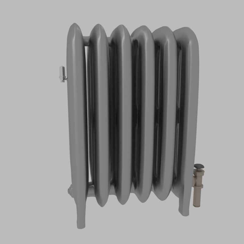3d traditional steam radiator model