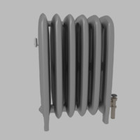 3d traditional steam radiator model
