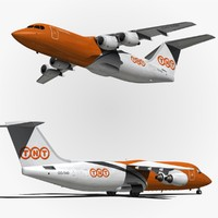 bae tnt airways 3d model