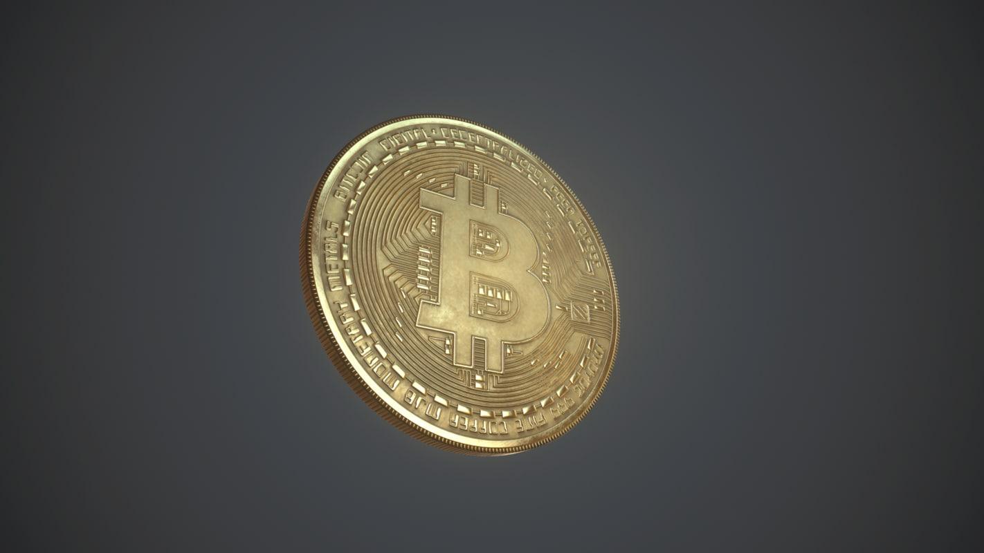 bitcoin baked 3d obj