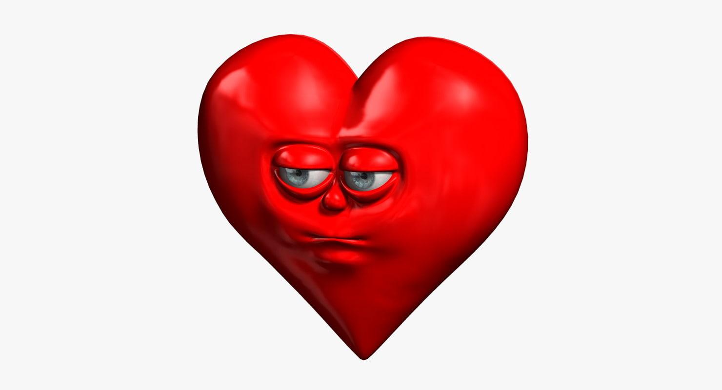 cartoon heart obj