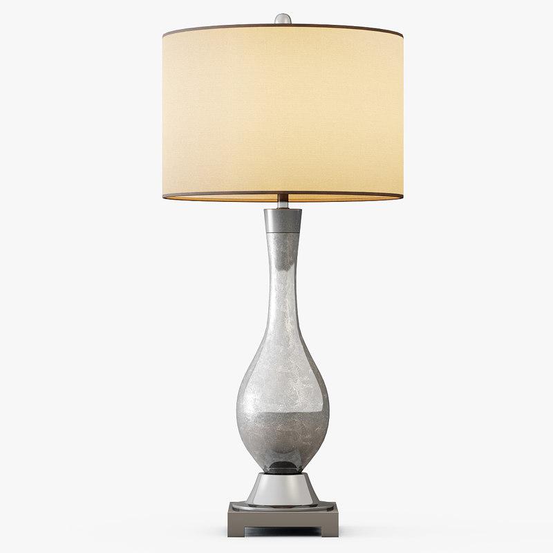 mercury glass table lamp 3d max