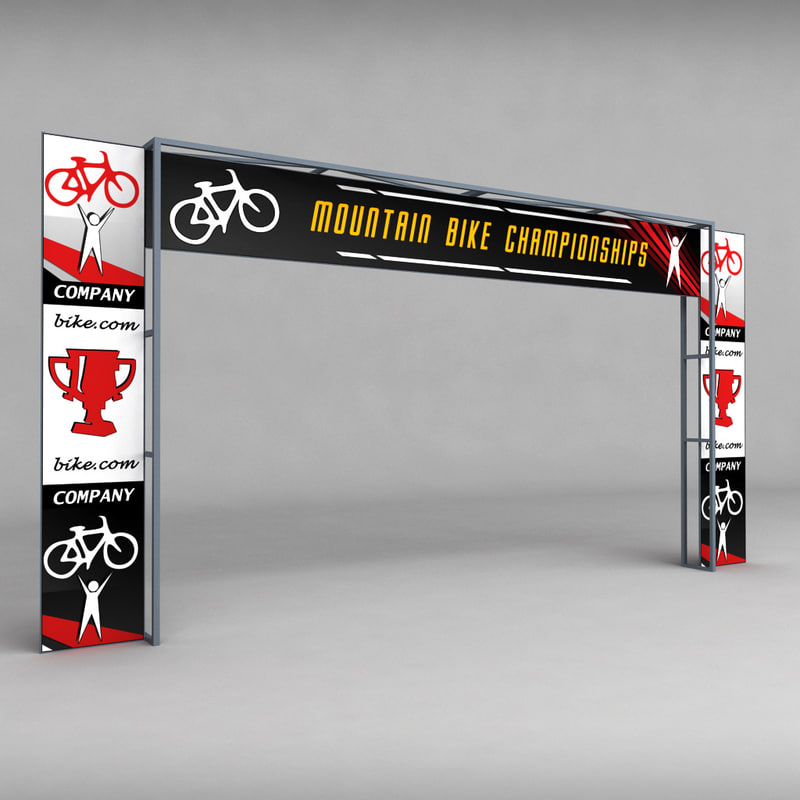 3d road scaffolding commercial banner