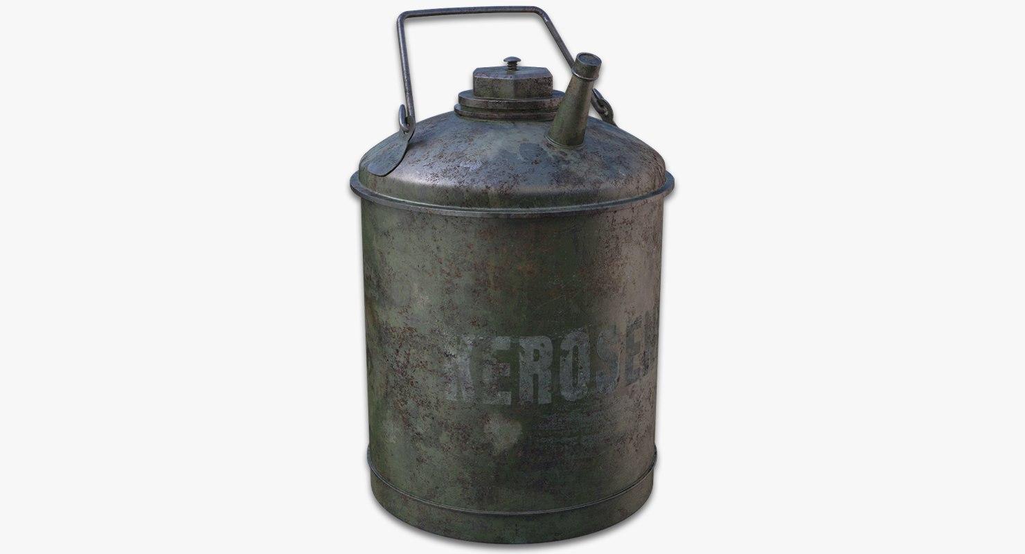 3d model old kerosene