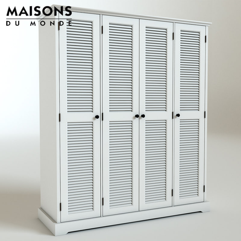 3d wardrobe maisons barbade model