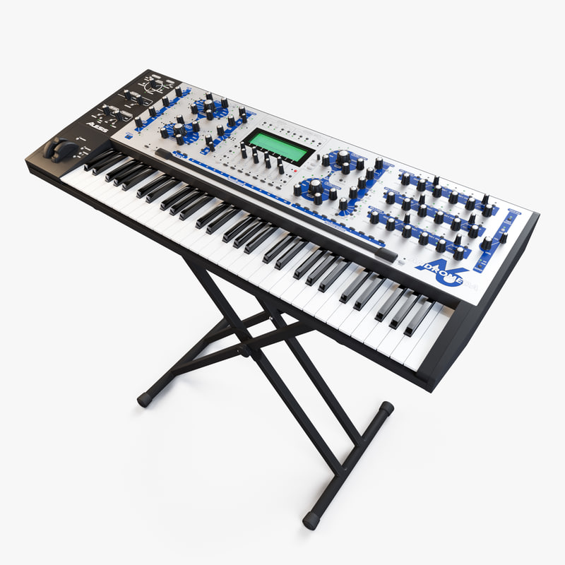 synthesizer alesis a6 andromeda 3d model