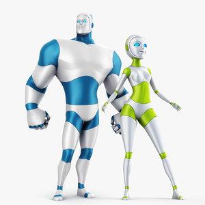 robot rigged max