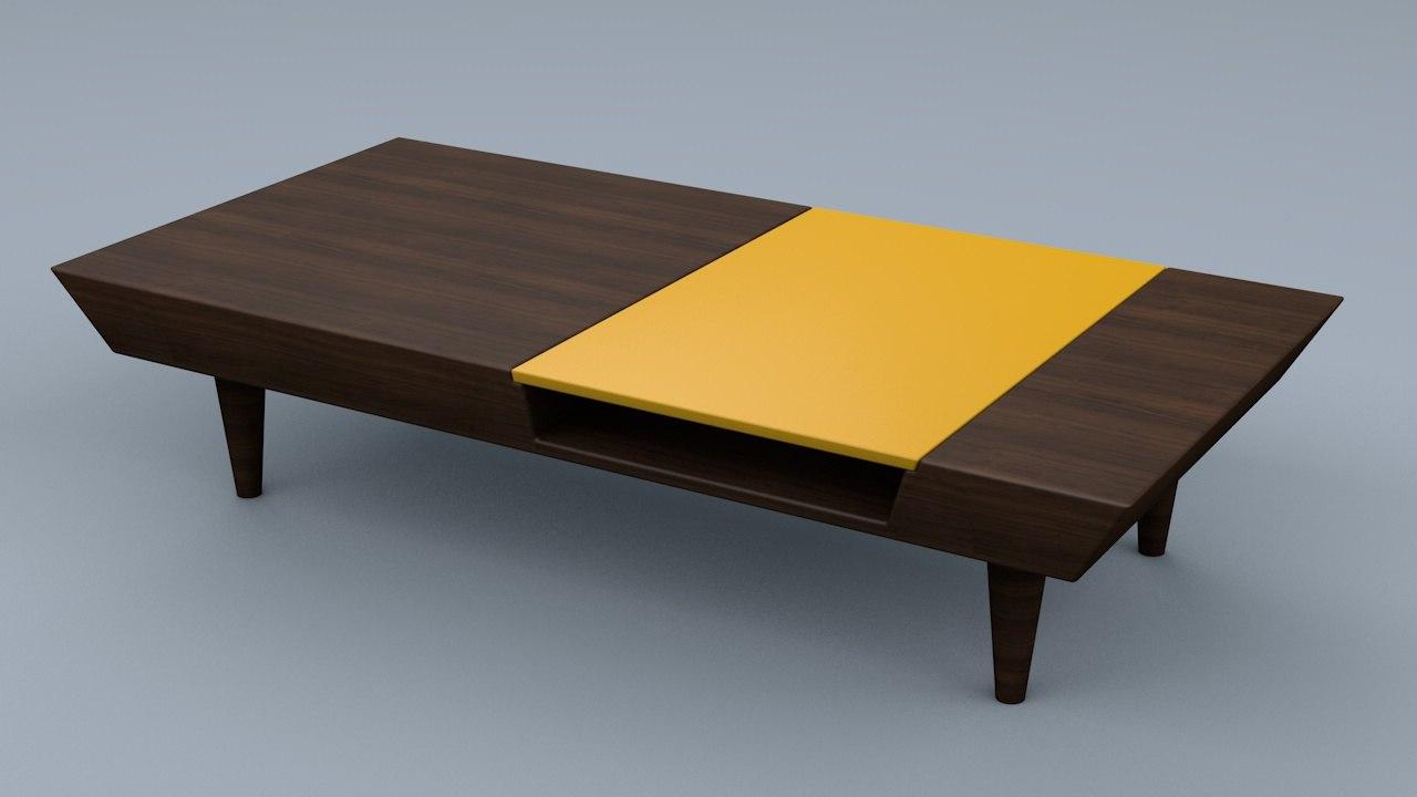 3d retro coffee table model