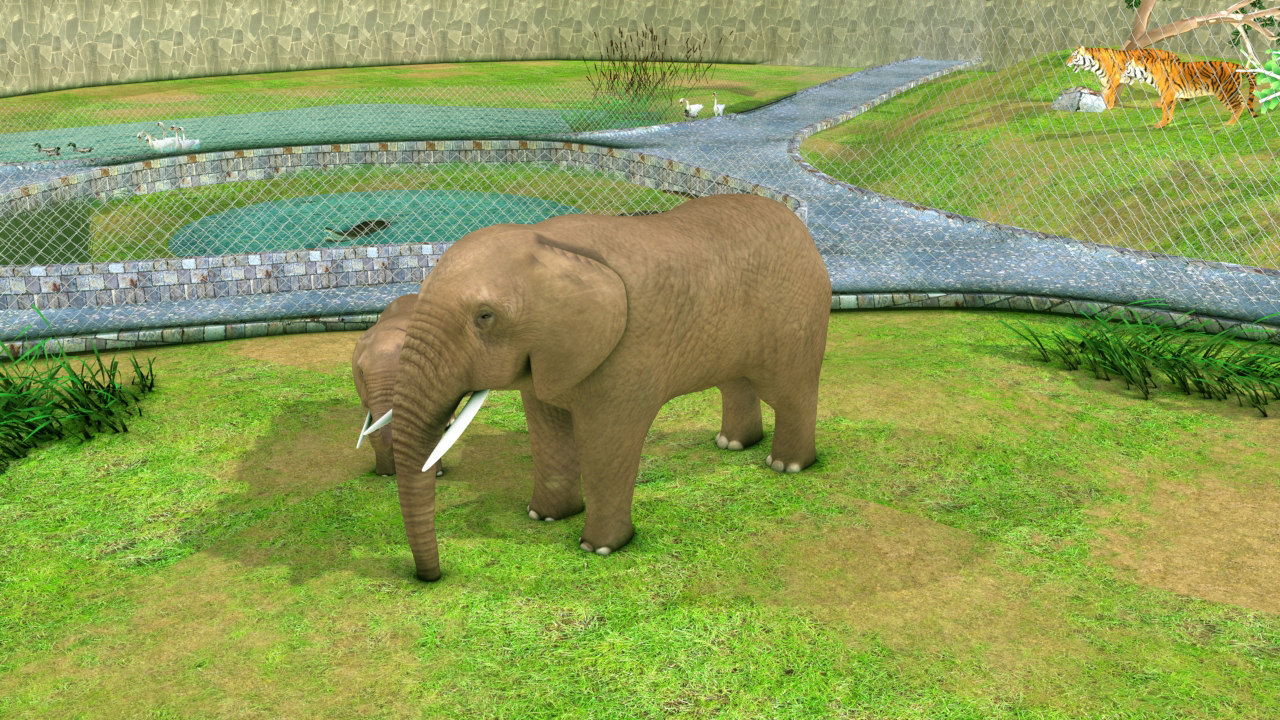 zoo park 3d model