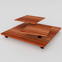 pbr uv-textured wheeled table 3ds
