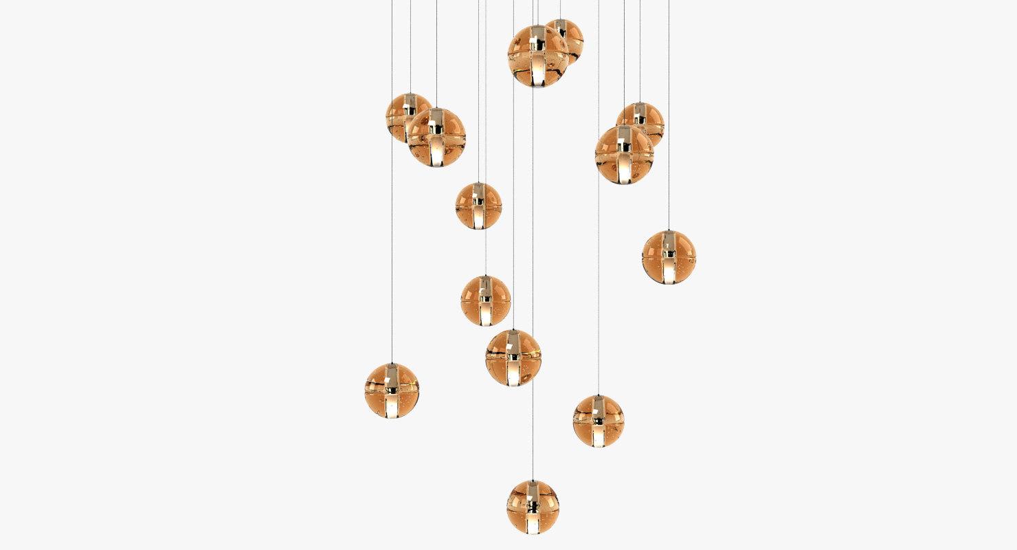 3d bocci chandelier model