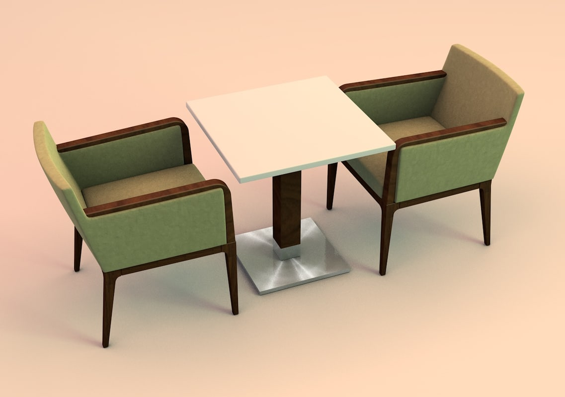 dining table arm chair c4d