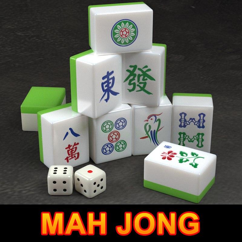 3d model mah jong