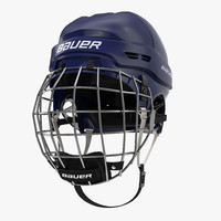 3d ice hockey helmet blue