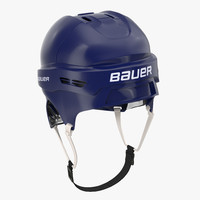 3d ice hockey helmet blue model