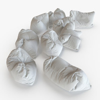giant floor pillows 3d model