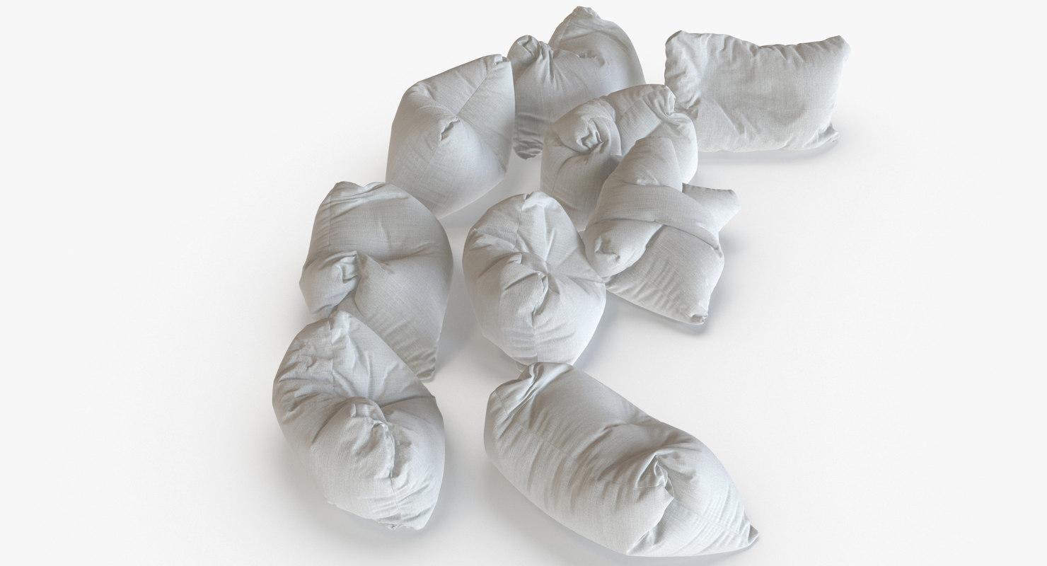 giant floor pillows 3d model