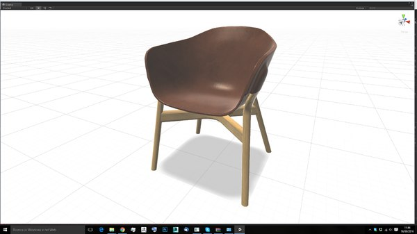 3d pocket chair design model