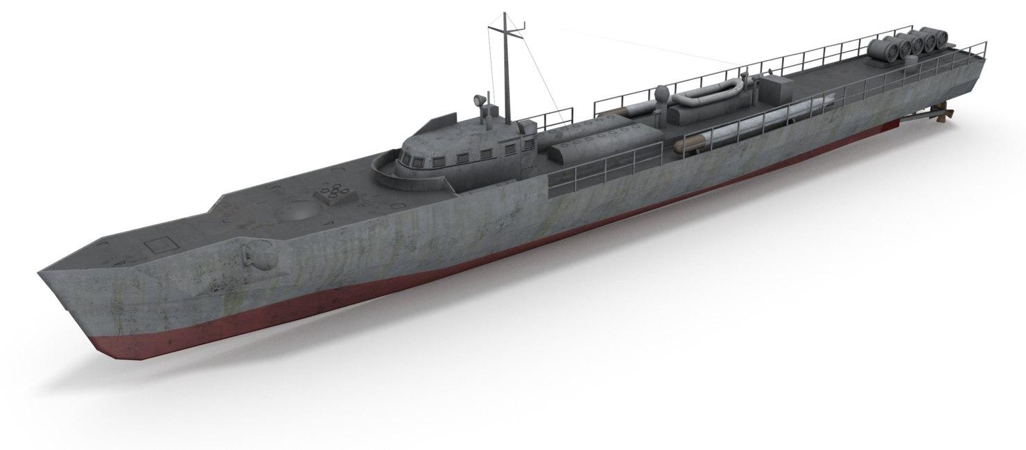 3d model e boat