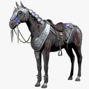saddled horse 3D models