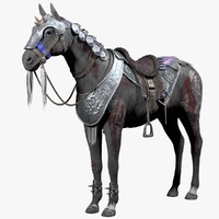 wounded warrior horse 3d model