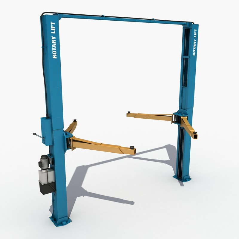 3d model car lift post