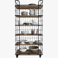 3d baker s rack model