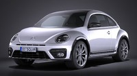 volkswagen beetle 2017 3d model