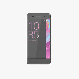 sony xperia xa graphite 3d model