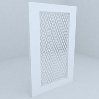 fence railing 3d model