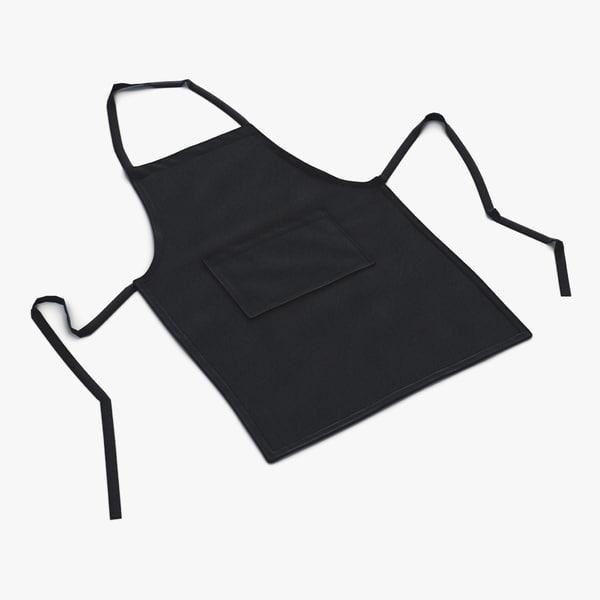 3d cafe apron 2 black