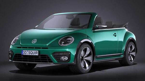 3d volkswagen beetle cabrio model