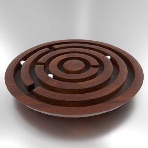 wooden maze 3d model