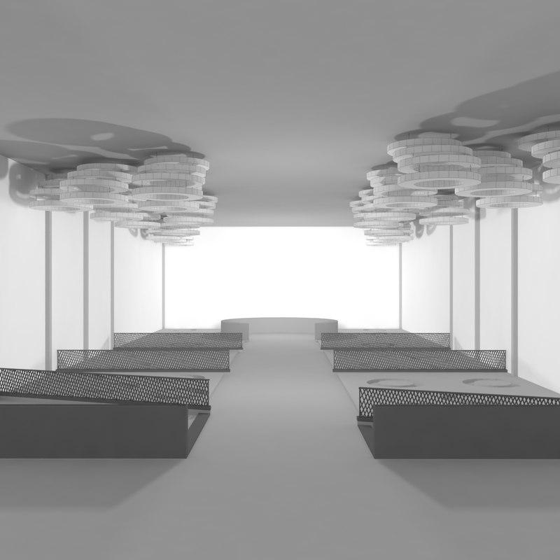 cafe-bar restaurant design 3d model