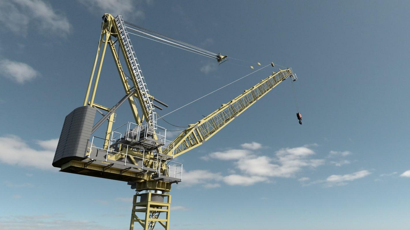 buildings site tower crane 3d x