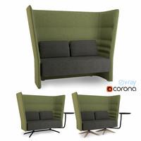 high-back sofa 3d max