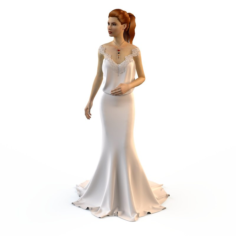 3d model hani-tabib wedding dresses