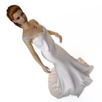 3d model hani-tabib wedding dresses