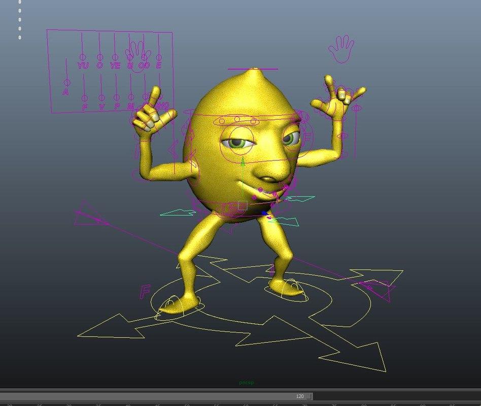 free lemon cartoon 3d model