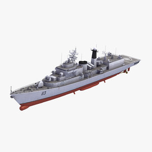 3d type052 luhu class destroyer model