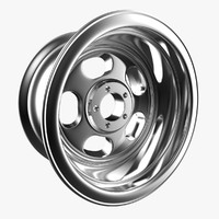 retro jeep wheel 3d model