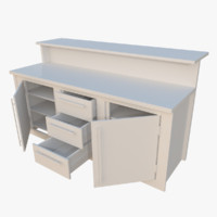 interactive kitchen bar counter 3d x