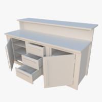 interactive kitchen bar counter 3d x